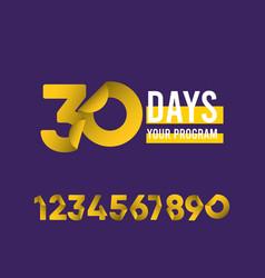 30 days your program template design vector