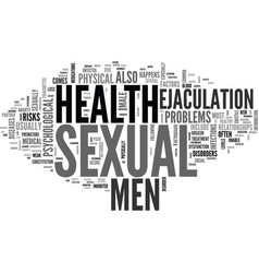 a guide to men s sexual health text word cloud vector image