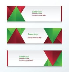 abstract banner design christmas styles vector image