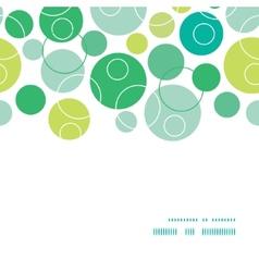 Abstract green circles horizontal frame seamless vector