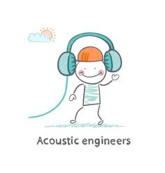 Acoustic engineer headphones vector