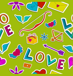 Amorous seamless pattern vector