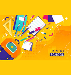 Back to school concept with school items vector