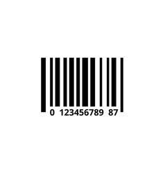 barcode icon design template isolated vector image
