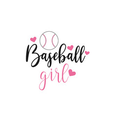 baseball quote lettering typography vector image