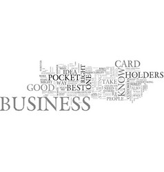Be on your way to success with pocket business vector