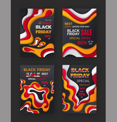 black friday autumn sale seasonal special offer vector image