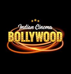 bollywood indian cinema film banner indian cinema vector image