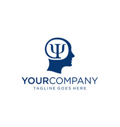 Brain and psychology symbol for logo design vector