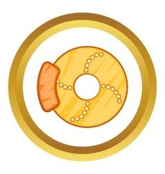Brake disk icon vector