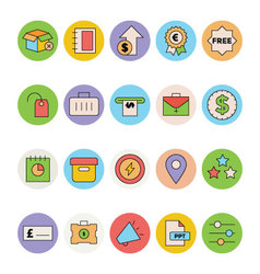 Business and Office Colored Icons 9 vector