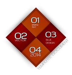 business four squares red with text vector image