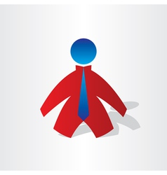 business men with tie icon vector image
