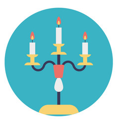Candle lights vector
