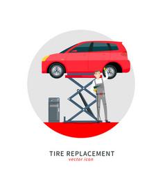 Car mechanic set-07 vector