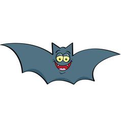 Cartoon smiling bat vector