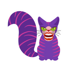 Cheshire cat is an animal from alice in vector