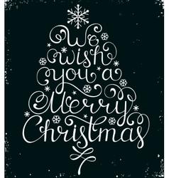 Christmas congratulation on black background vector