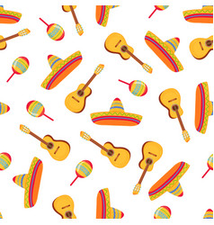 cinco de mayo 5th may sombrero maracas and vector image