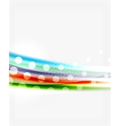 Color wavy lines with light shiny effects vector image