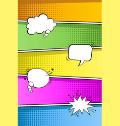 Colorful pop art retro background vector