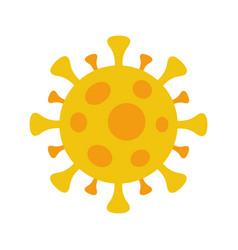 Coronavirus covid19-19 symbol flat circle virus vector