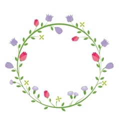 Cute floral decoration card vector