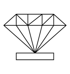 Diamond icon outline style vector