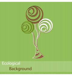 Ecological background with abstract trees vector image vector image