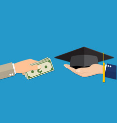 education for money concept vector image