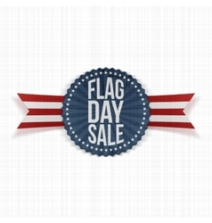 Flag Day Sale Emblem with Text and Shadow vector image