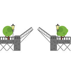 flat style of open gate vector image