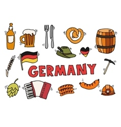 Germany travel set vector