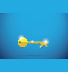 gold key with key success word success concept vector image