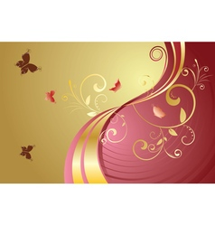 Golden Floral Background2 vector