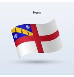Herm flag waving form vector