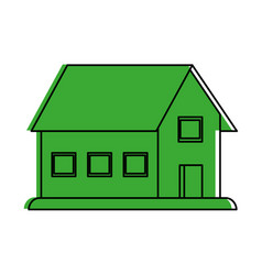 House sideview icon image vector