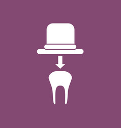 Icon dental crown vector