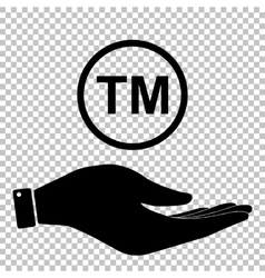 Icon on hand vector