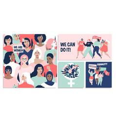 international womens day we can do it vector image
