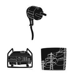 Isolated object of electricity and electric icon vector