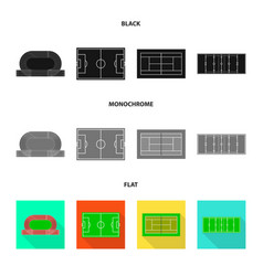 Isolated object scheme and construction sign vector