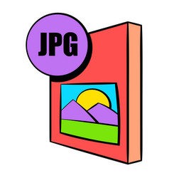 Jpg file icon cartoon vector