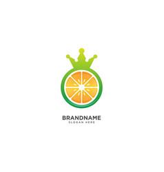 King fruit logo design fruit and crown symbol vector