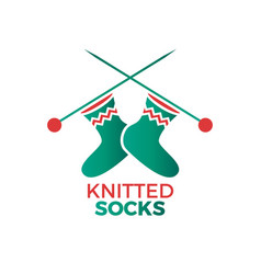 Knitted socks logo vector