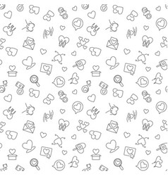 love concept minimal seamless pattern in vector image
