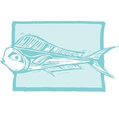 Mahi Mahi Fish vector