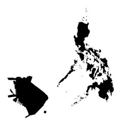 Map philippines and manila country and capital vector