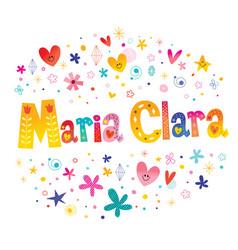 Maria clara girls name vector