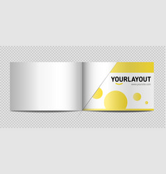mockup of catalog a4 horizontal vector image